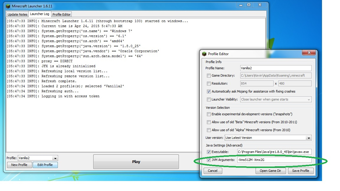 Running a small home server + running Minecraft = Java