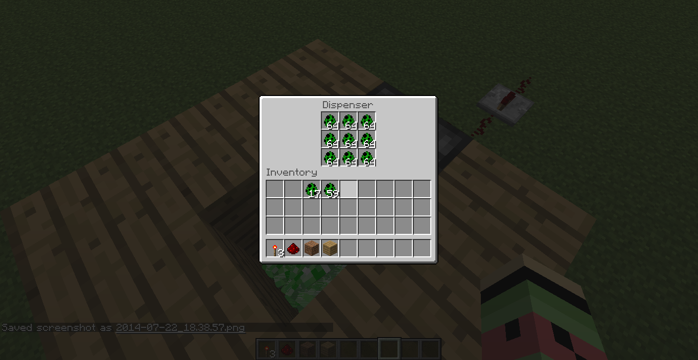 Spawn Egg Dropper with Dispenser and Redstone Redstone