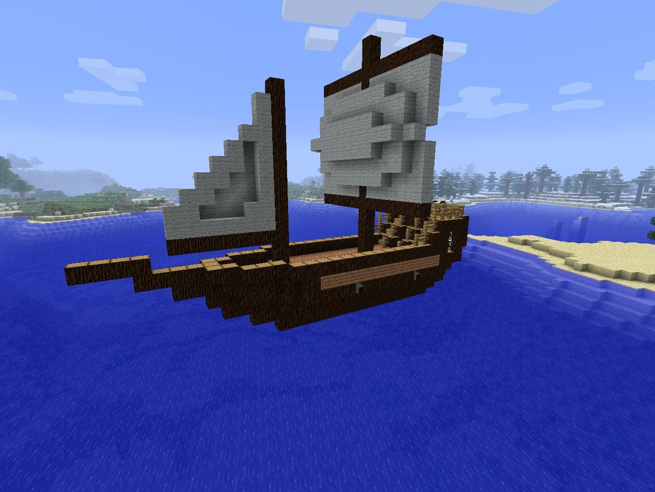 Картинка лодки в майнкрафт