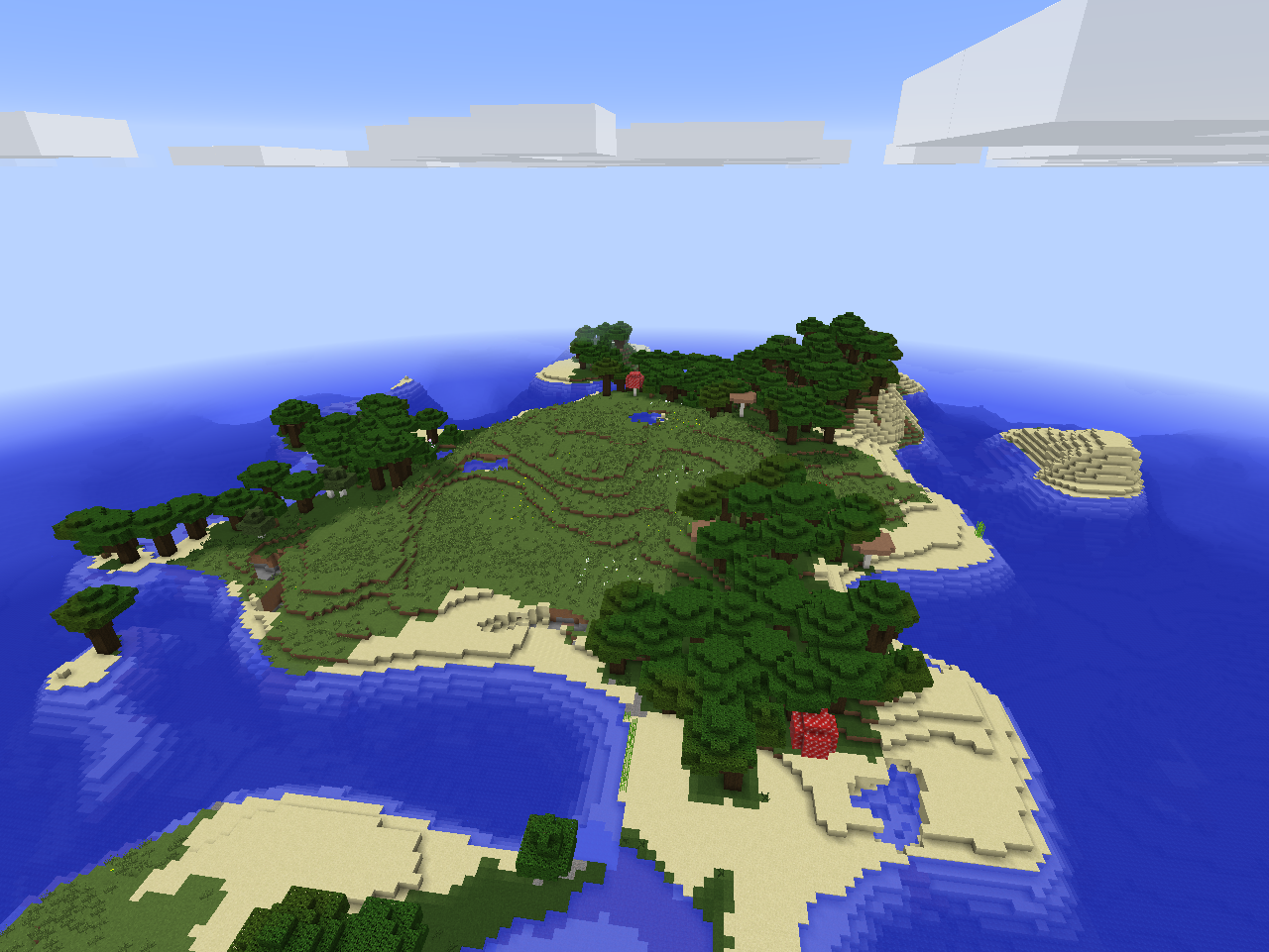 1 8 8 Seed Roofed Forest Haven Seeds Minecraft Java Edition Minecraft Forum Minecraft Forum