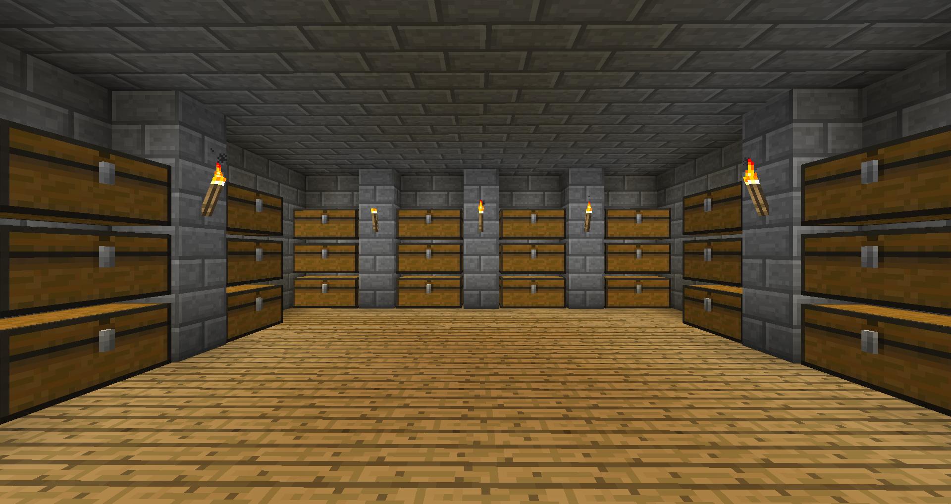 Storage Rooms Survival Mode Minecraft Java Edition
