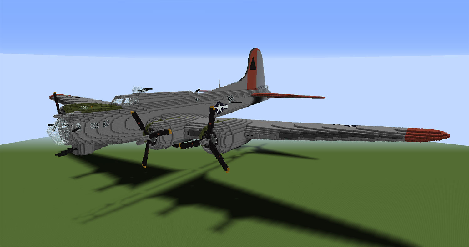 Large Scale Aircraft in Minecraft - Creative Mode
