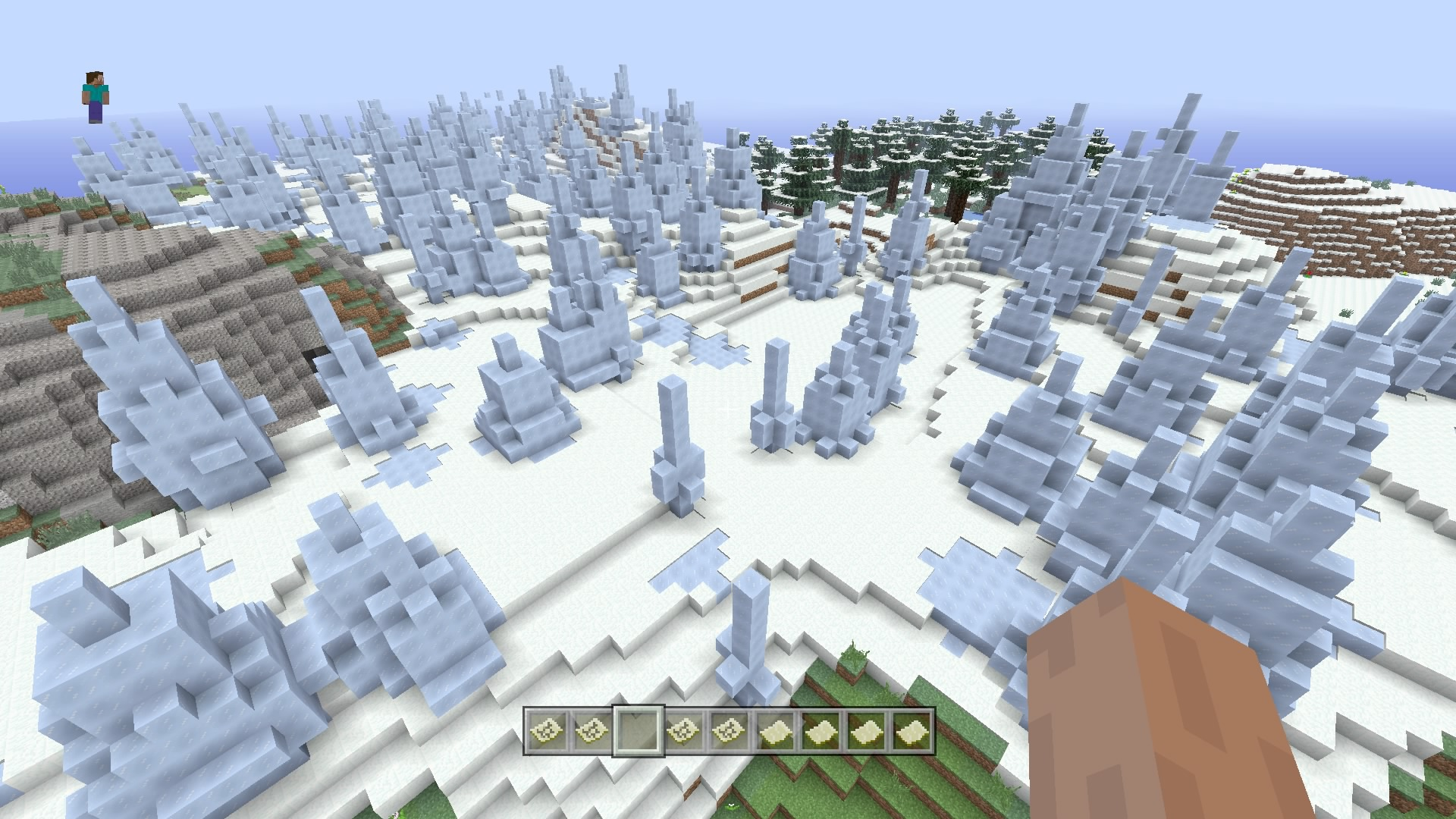 AWESOME!!! All biomes, village at spawn, SEA FORTRESS, etc