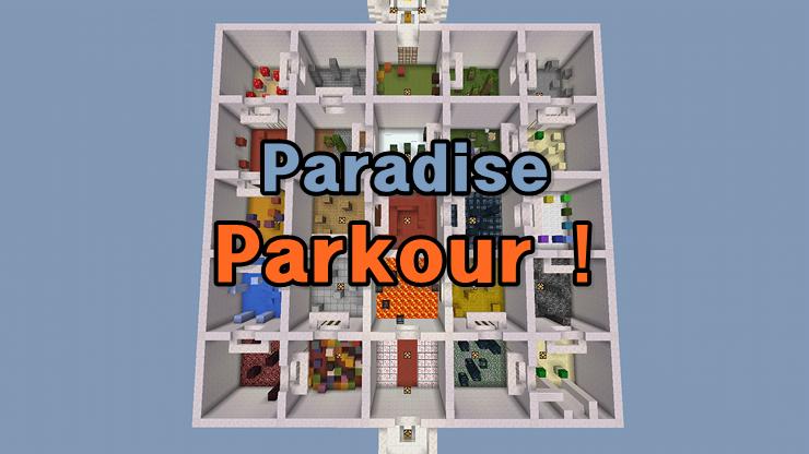 0 13] Paradise Parkour ! - MCPE: Maps - Minecraft: Pocket