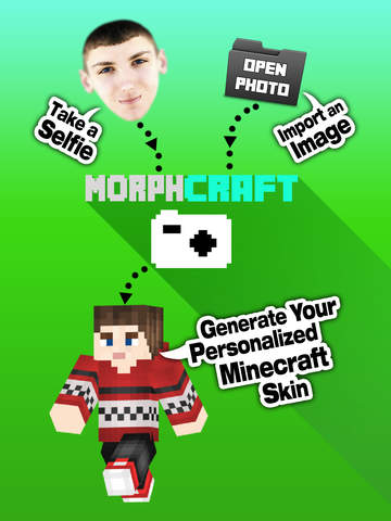 Create Skins from Selfies MCPE (Editor + Morph tool + Skin