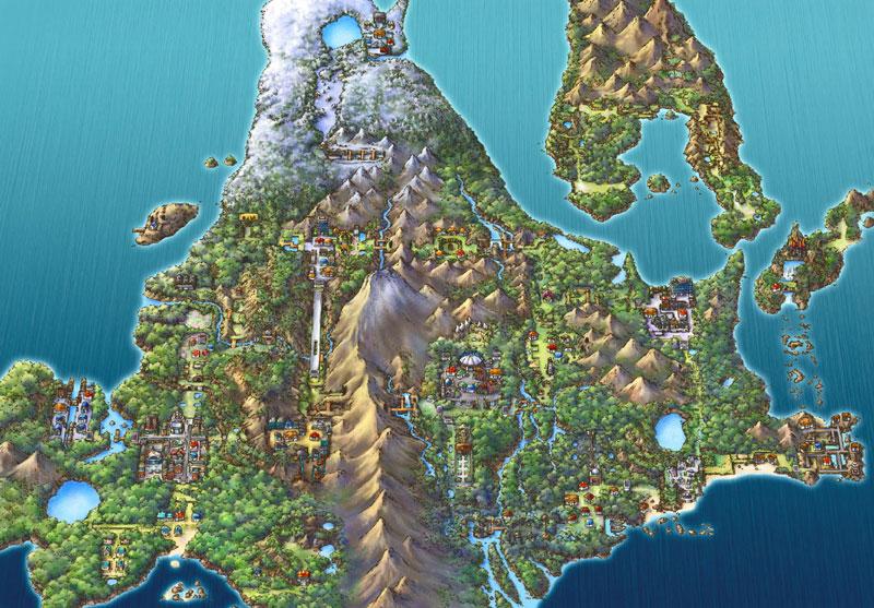Pokemon Sinnoh Region -Realistic Size - WIP Maps - Maps
