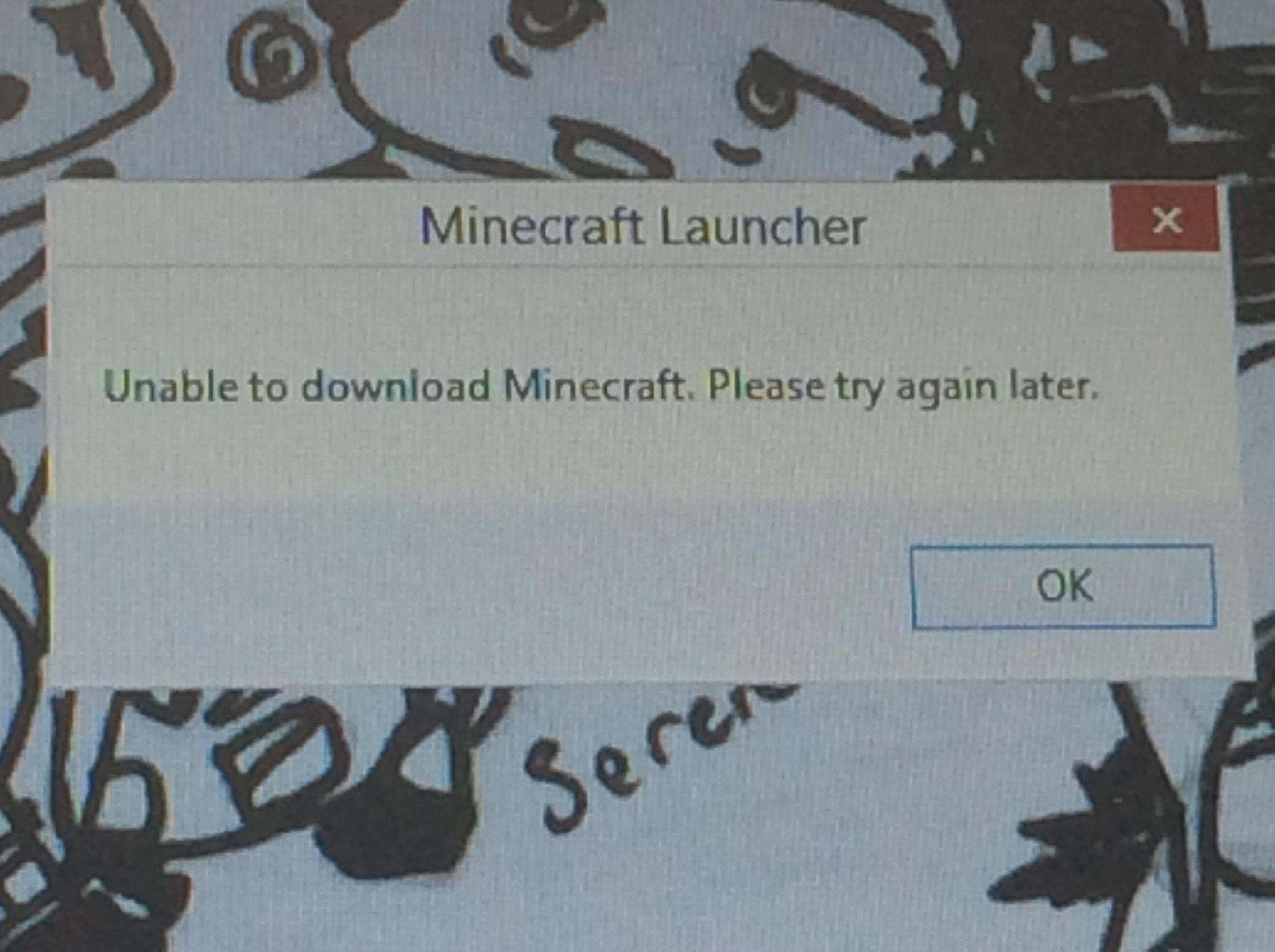minecraft unable to download