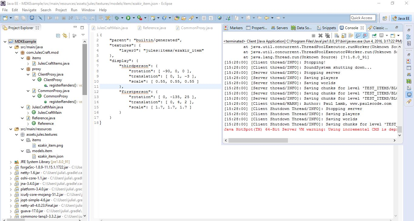 Missing Texture when adding items - Modification Development