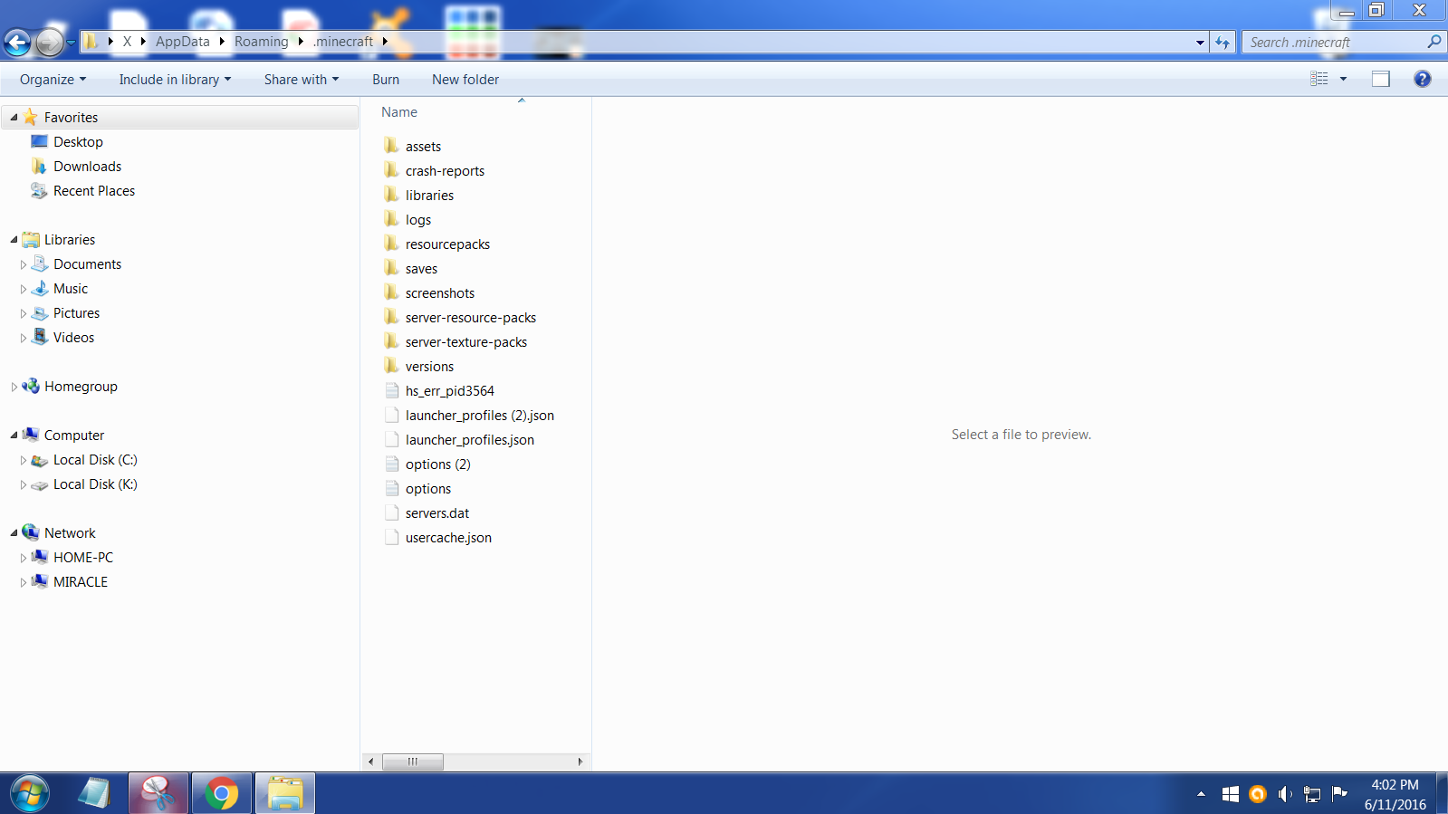 Moved my  minecraft folder to desktop and now everything is