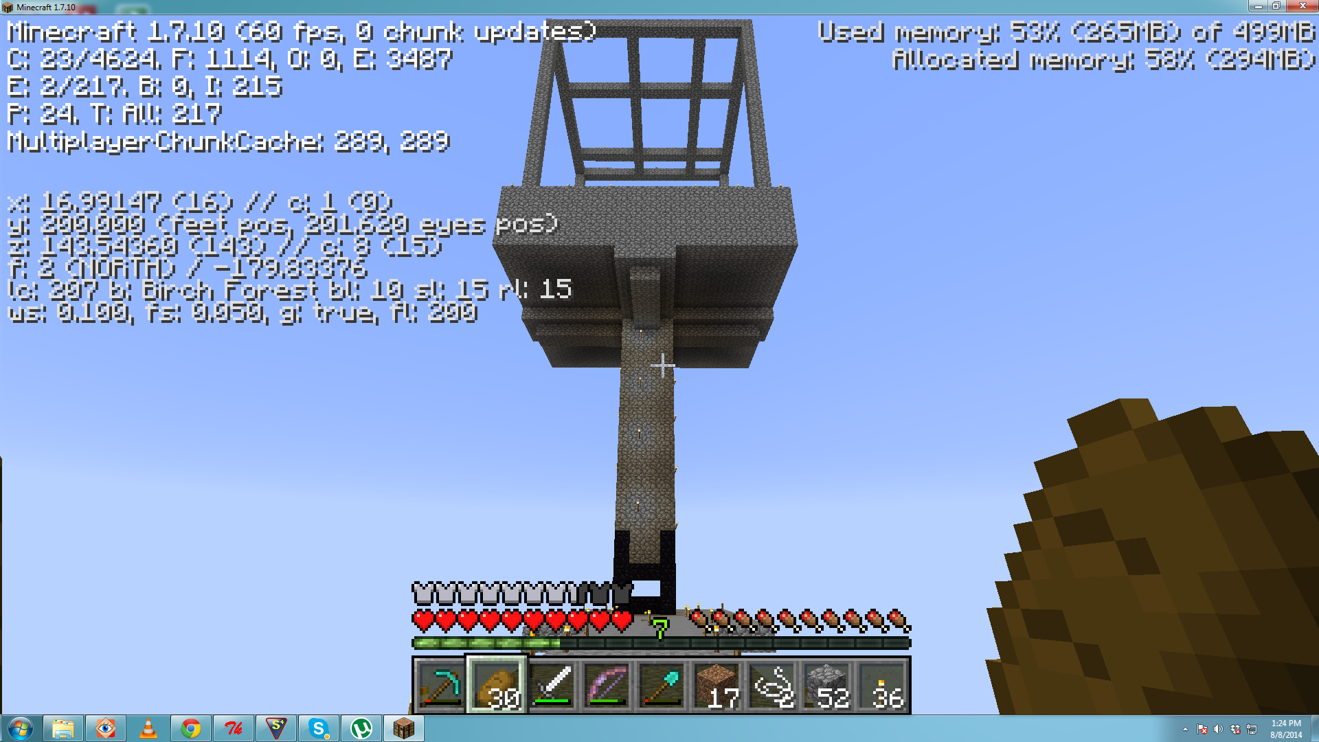 Troubles with an elevated XP Farm - Survival Mode - Minecraft