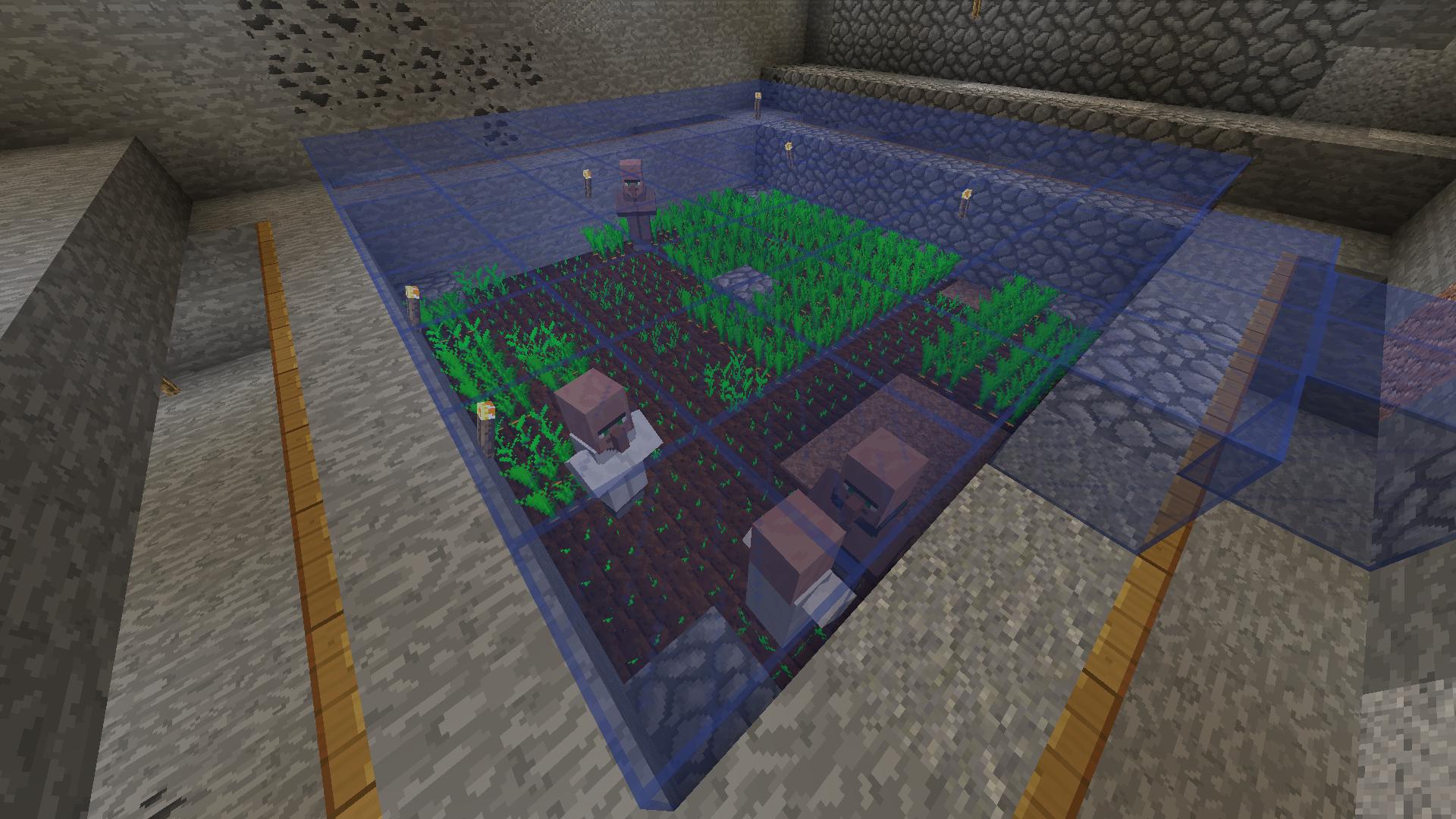 Villagers breeding underground, does it work ? - Survival