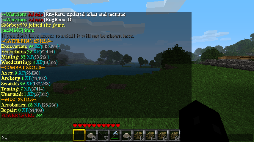 Minecraft skill system using command blocks? - Commands