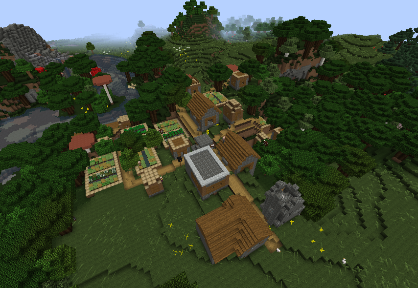 1 10 2 Roofed Forest Village Seeds Minecraft Java Edition Minecraft Forum Minecraft Forum