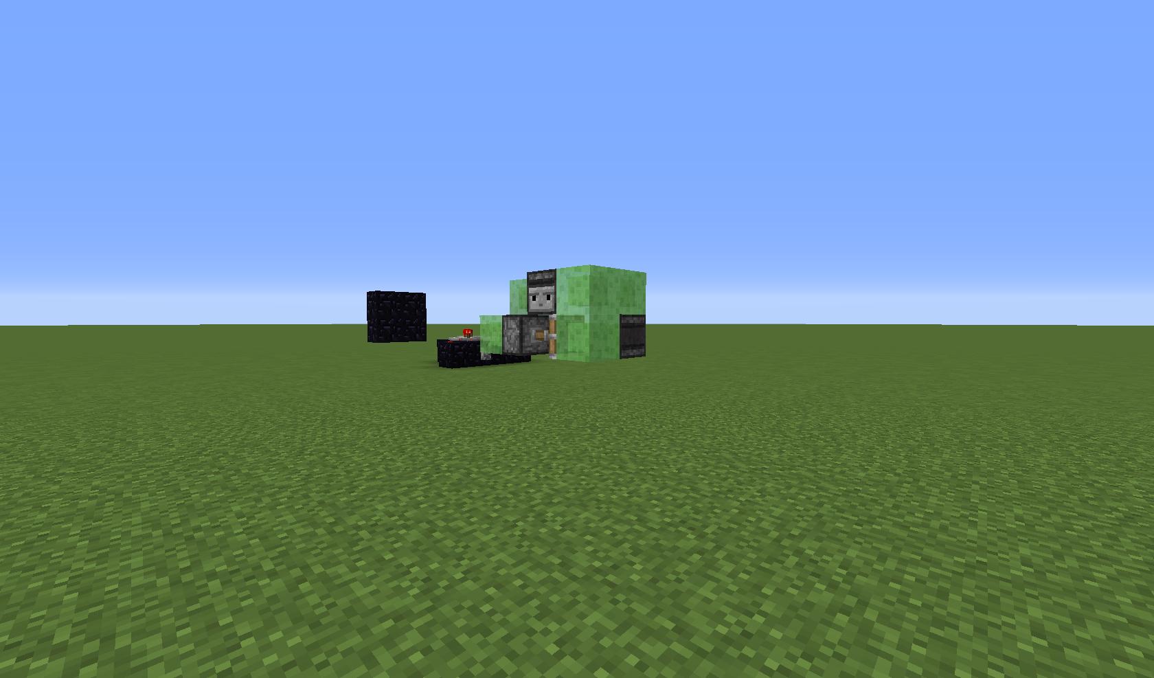 Small Reversible Slime Block Flying Machine Redstone