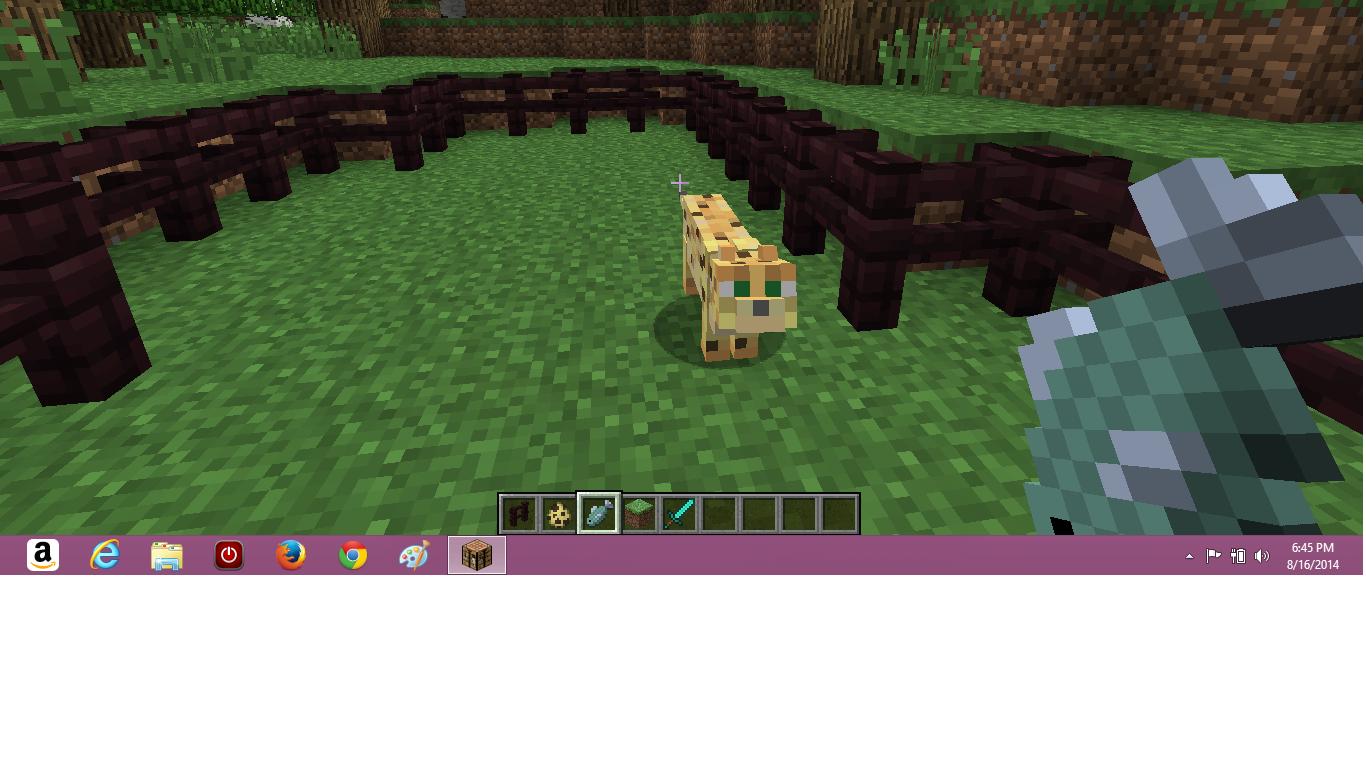 I can't tame an ocelot  - Creative Mode - Minecraft: Java