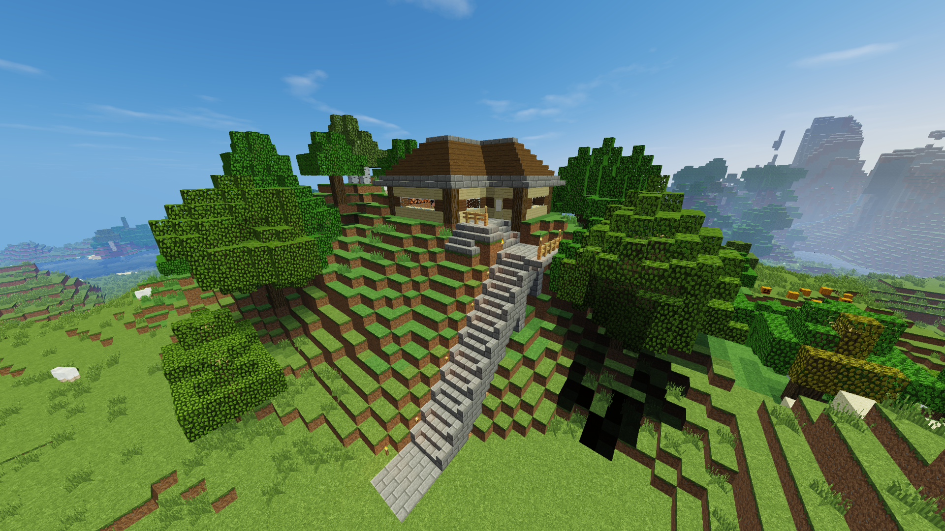 Mountain Home With Secret Underground Base Wip Creative