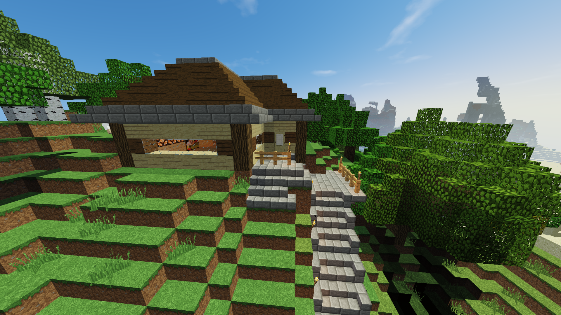 Mountain home with secret underground base (WIP) - Creative Mode