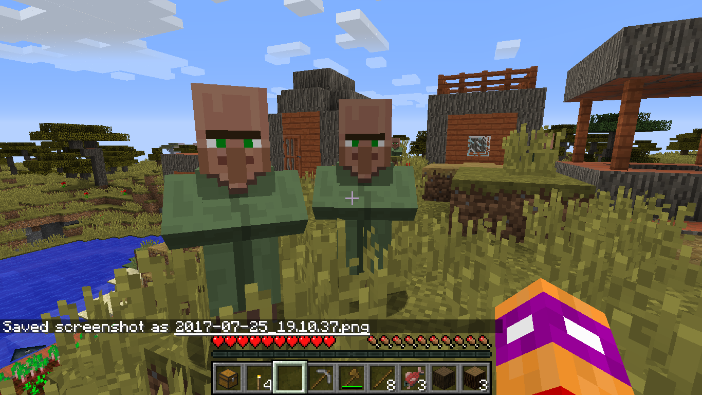 Natural spawned Green Robed Villagers????? - Discussion - Minecraft