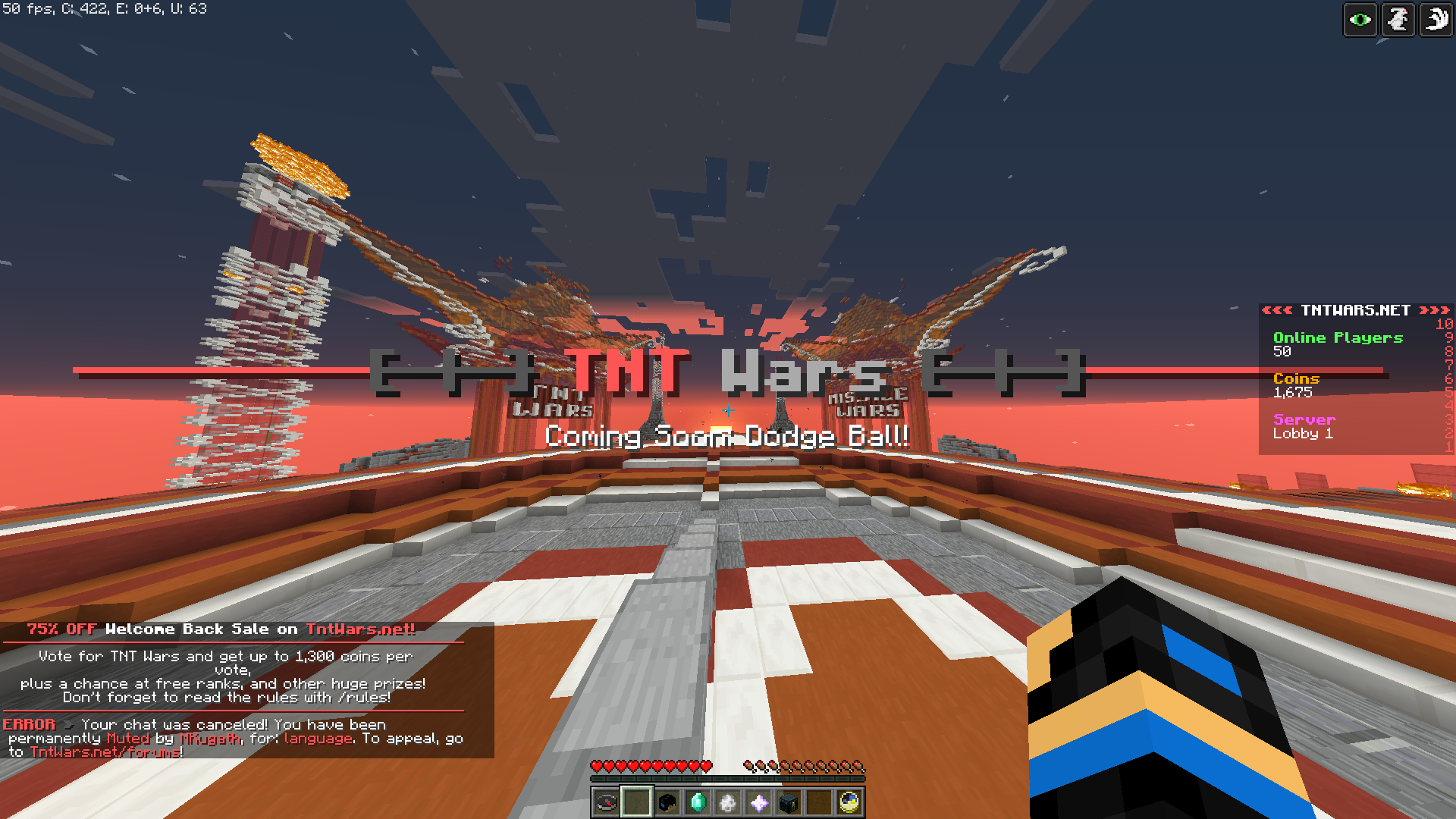 TNT Wars Server - PC Servers - Servers: Java Edition