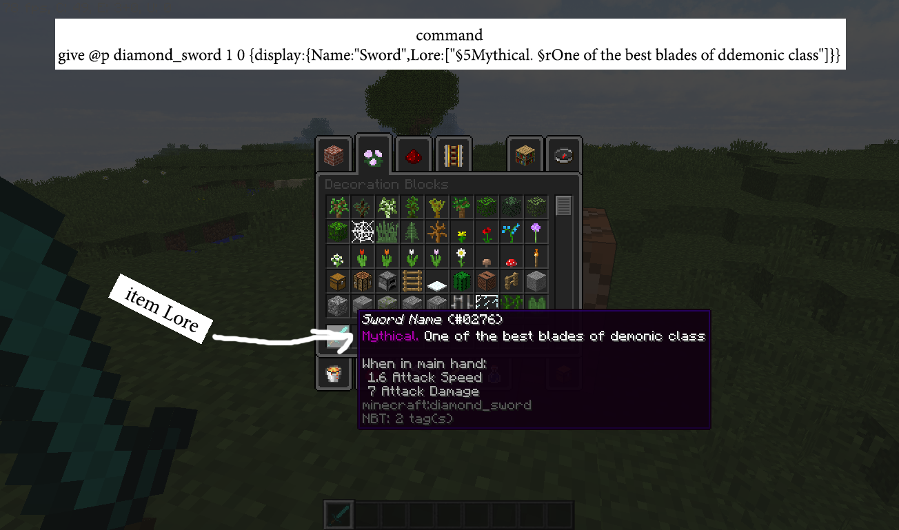 Items Lore with command block - Discussion - Minecraft: Java Edition
