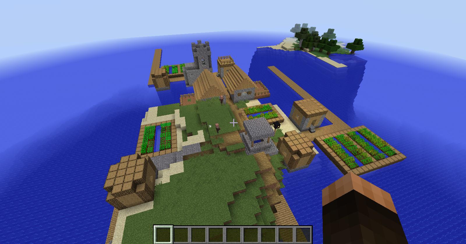 minecraft seed island village