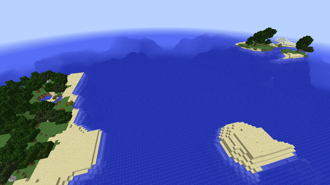 Just found an amazing survival island seed!! [Snapshot for 1 13