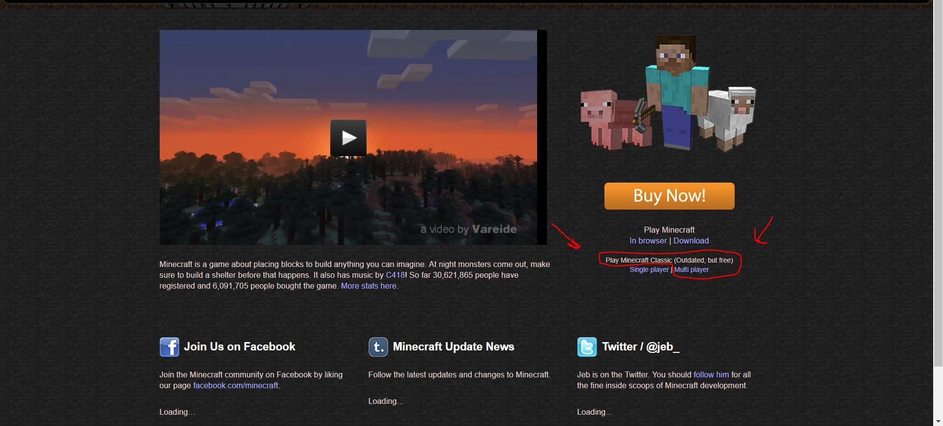 Anyone remember this option on the old minecraft website