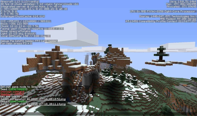 Floating Island seed for 1 13 - Seeds - Minecraft: Java