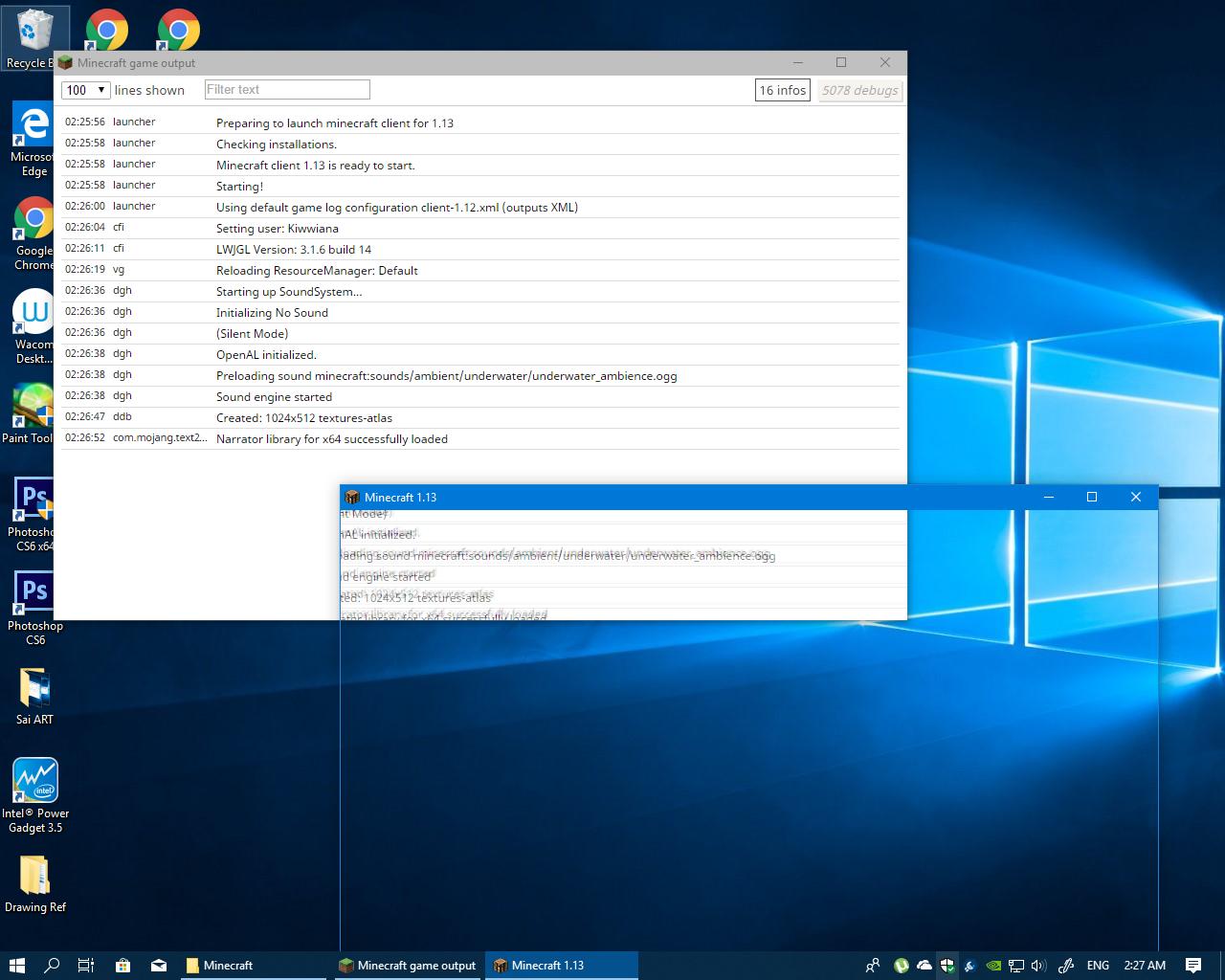 Windows 10 : Minecraft Java Edition / Blank Screen after