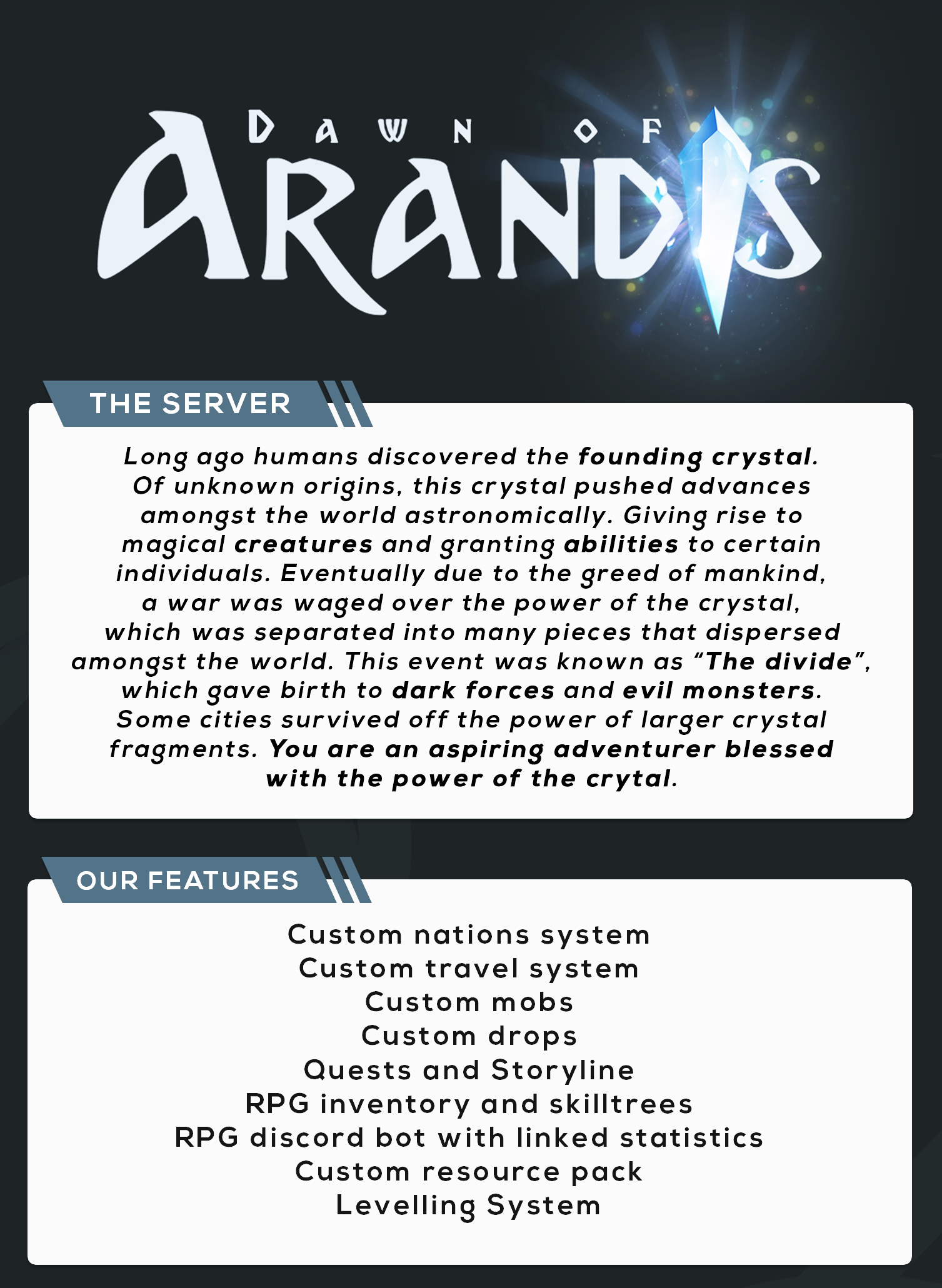 1 13] 💎 Dawn of Arandis 💎 | A Fantasy Style Survival/RPG