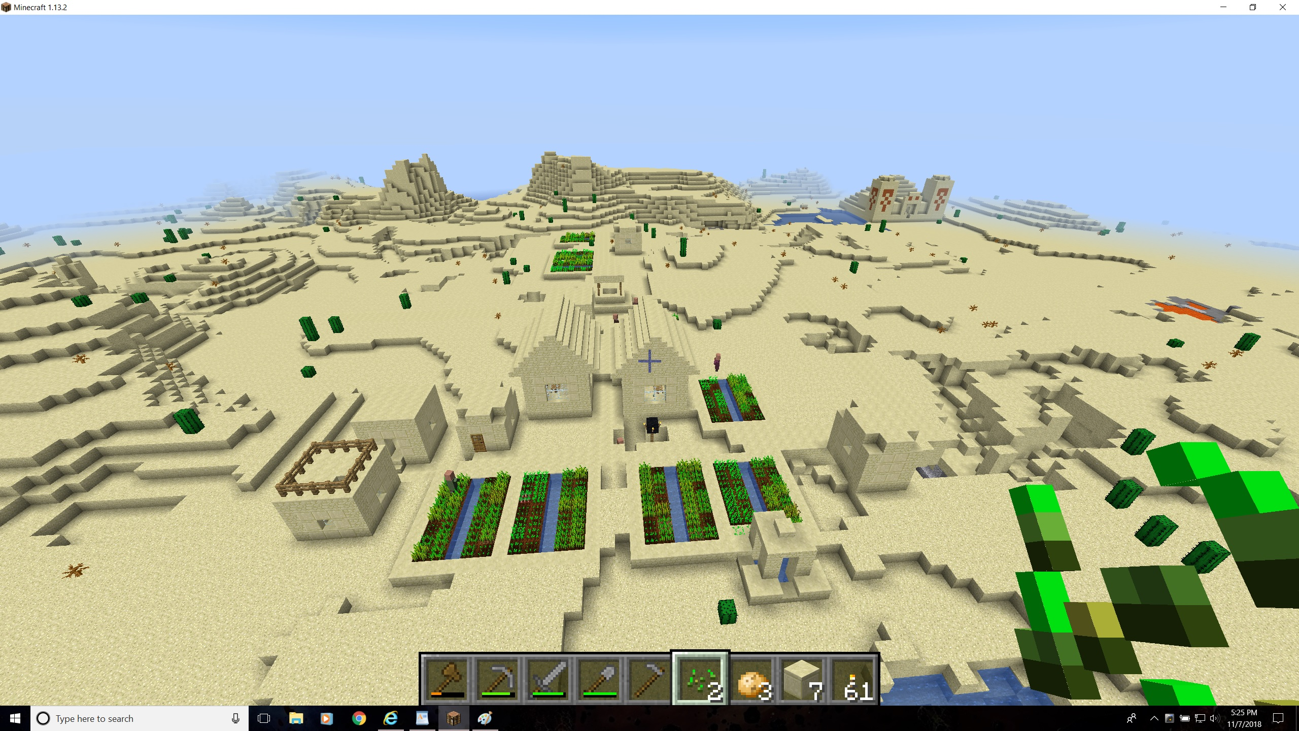 double village, sand temple, shipwreck, and drowned village