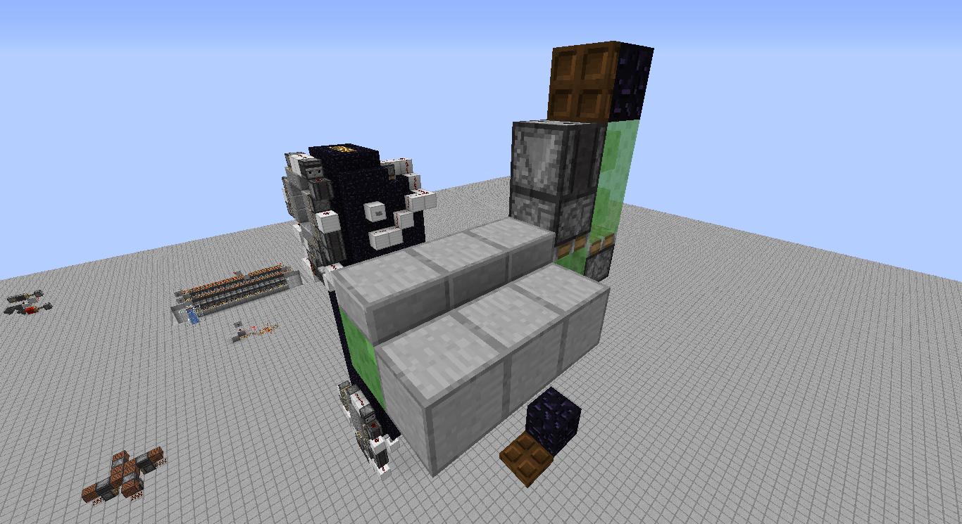 3x3 Multifloor flying machine elevators - Redstone Creations
