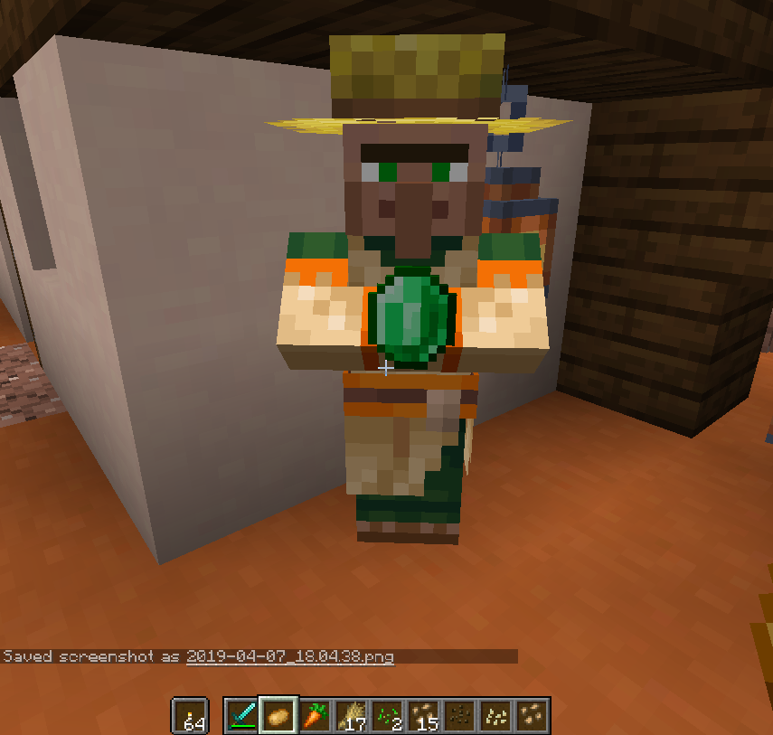 I found a Villager who's carrying an emerald?? - Recent