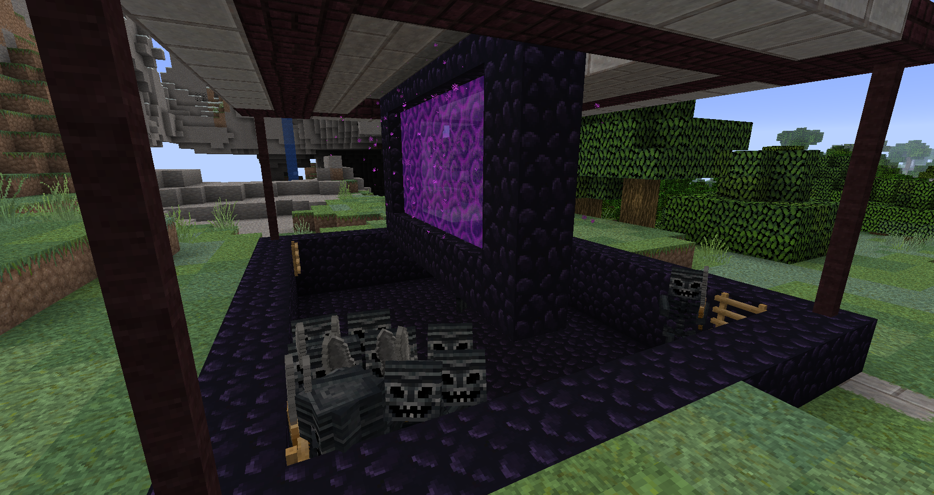 1 13 2] Charged Creeper Blowing Up Wither Skeletons