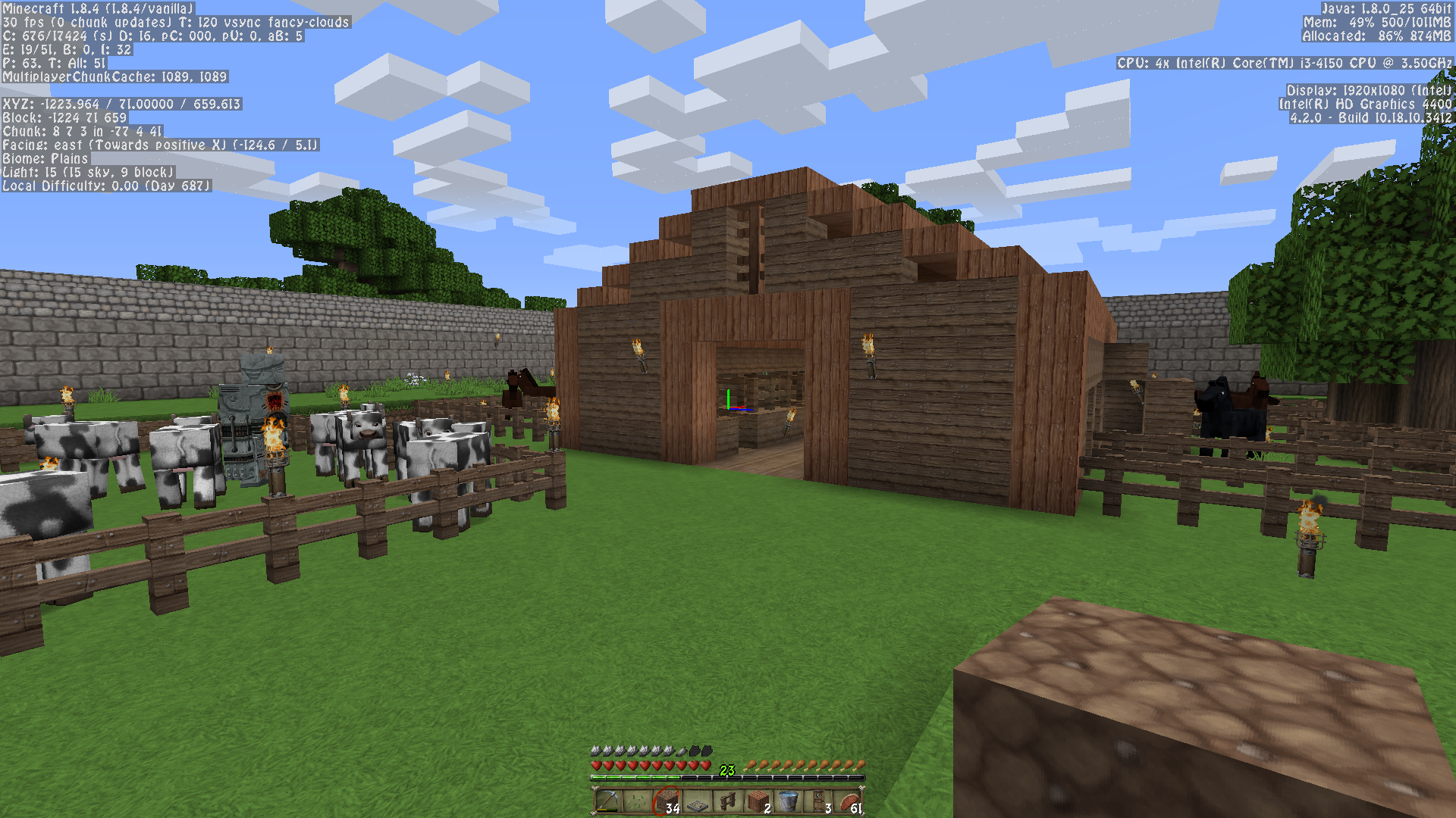What happened to my barn???? - Survival Mode - Minecraft