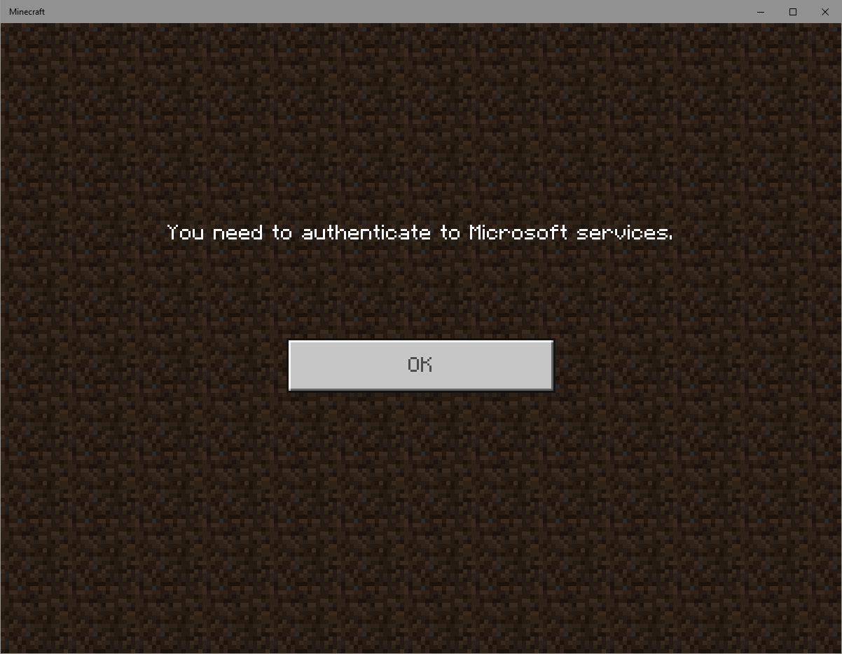 Authenticate to Microsoft services - Minecraft (Bedrock) Support