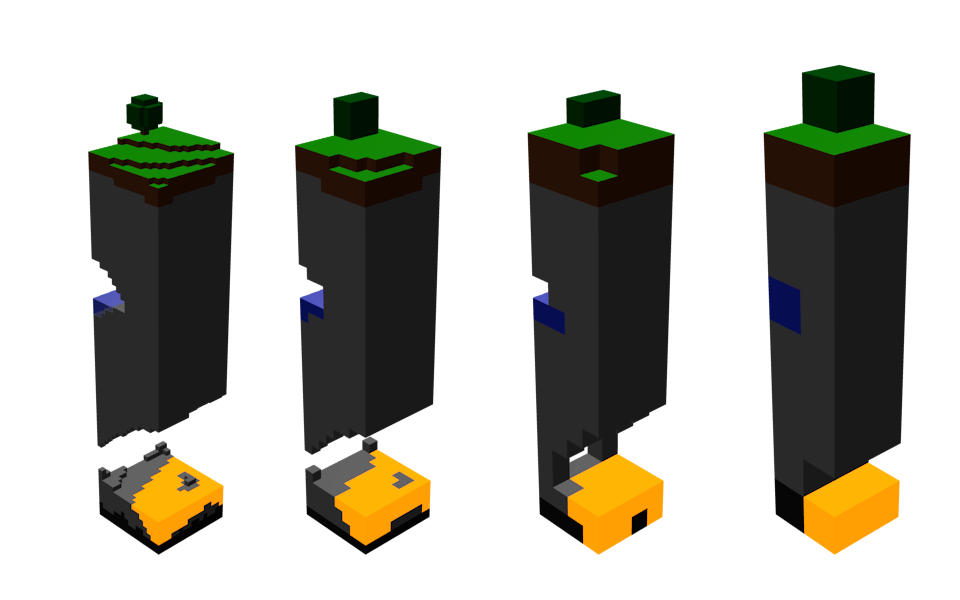 Minecraft LOD models