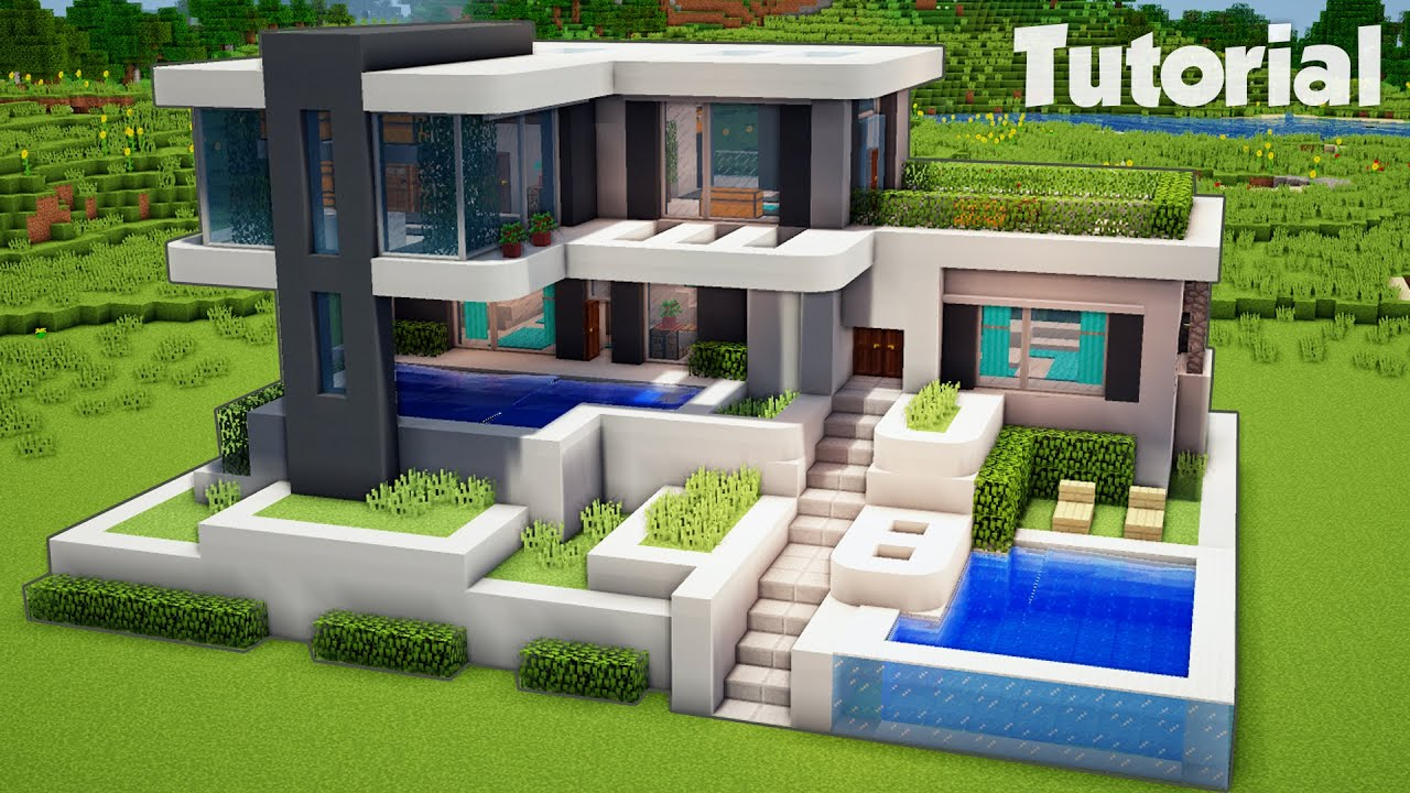 How to Build a Large Modern House Tutorial (Easy) - Tutorials
