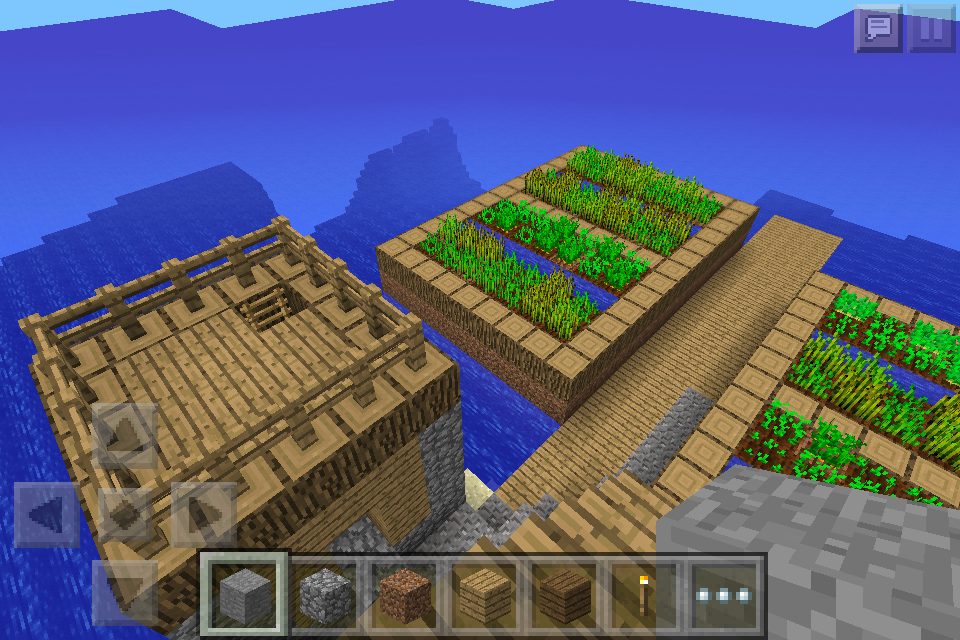 Ocean Village Seed with Awesome Blacksmith Chest - MCPE