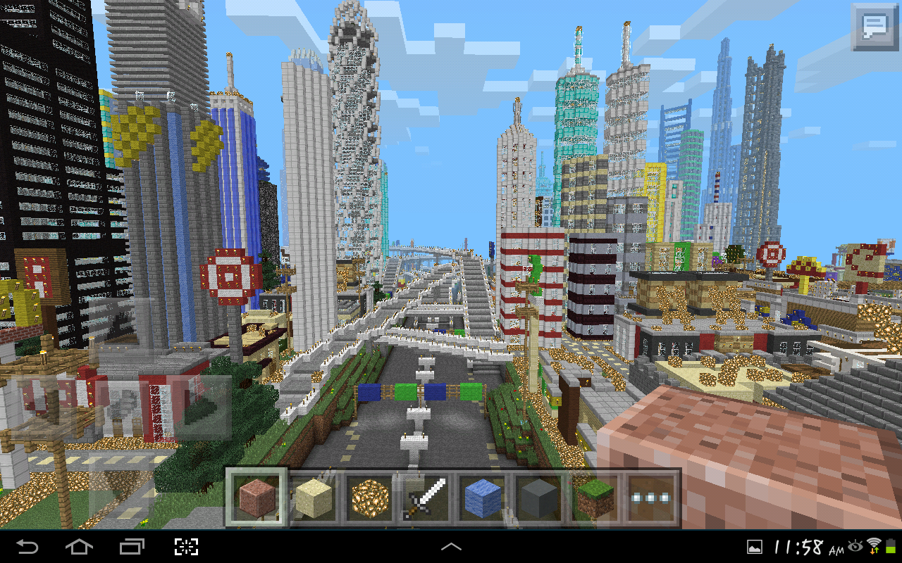MINECRAFT PE GIGANTIC CITY [The Biggest City In Pocket Edition] NEW