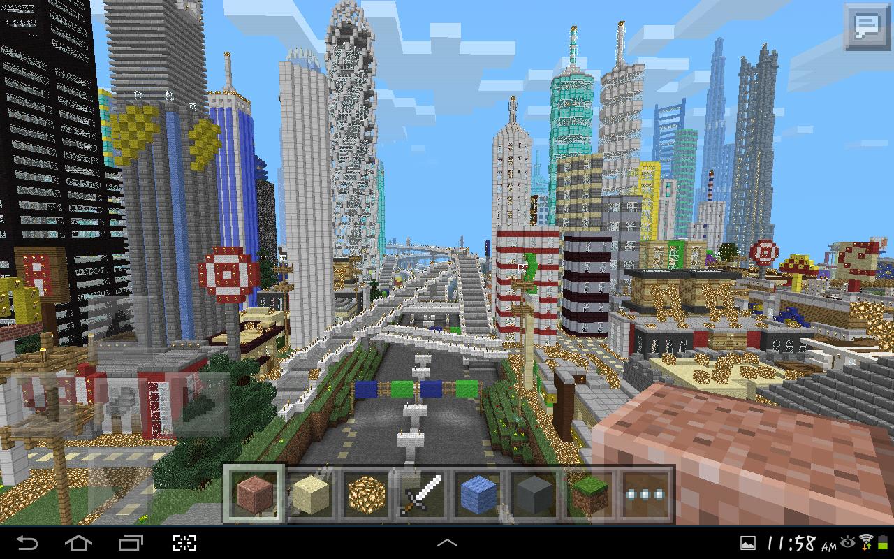 Minecraft Pe Gigantic City The Biggest City In Pocket