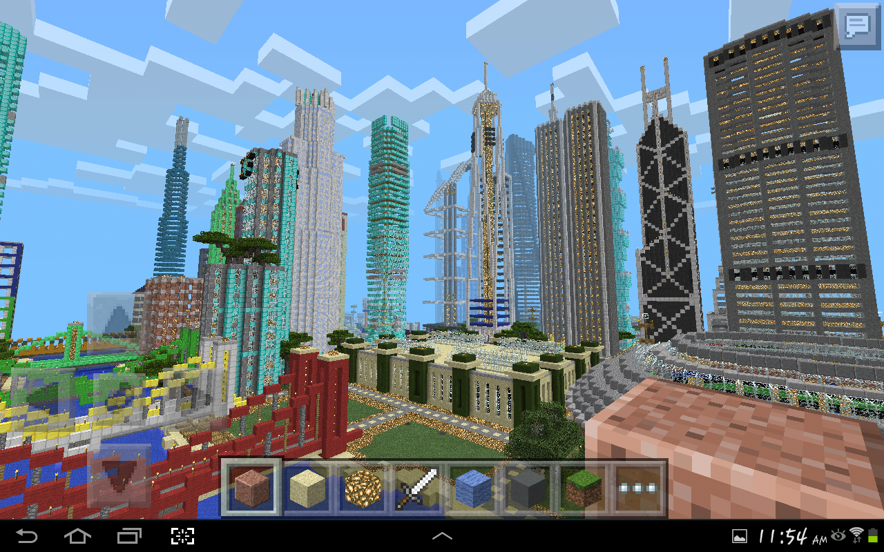 MINECRAFT PE GIGANTIC CITY [The Biggest City In Pocket