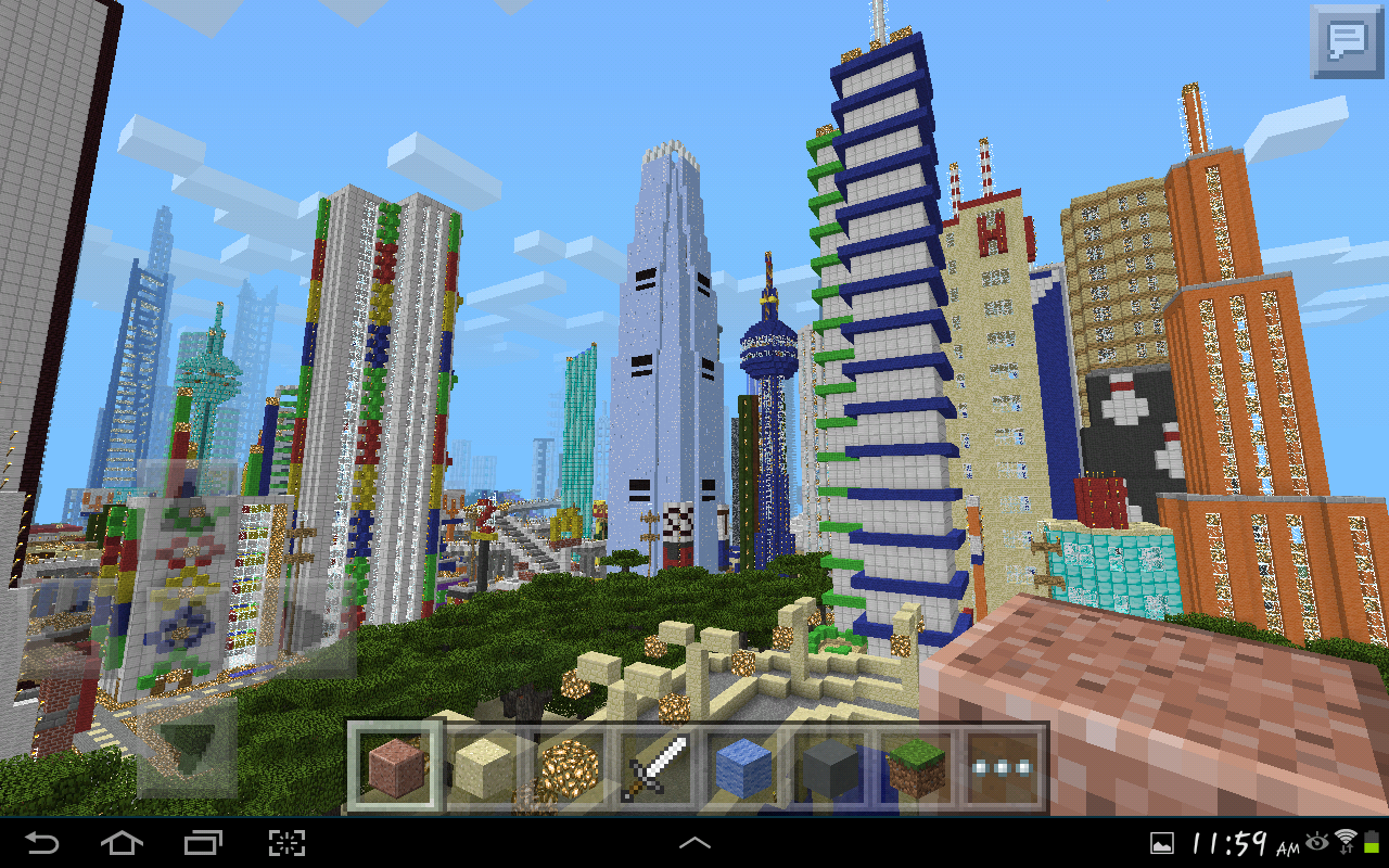 MINECRAFT PE GIGANTIC CITY [The Biggest City In Pocket Edition] NEW on