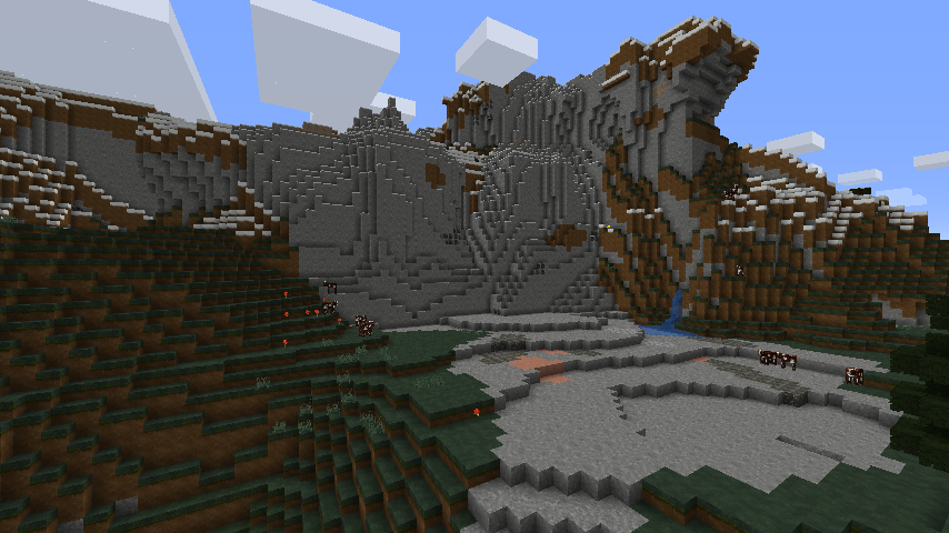 minecraft biggest mountain seed