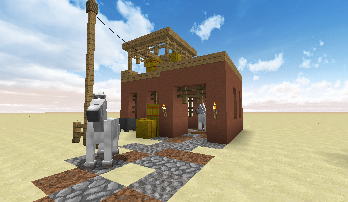 Adobe House And Horse Stable Screenshots Show Your Creation Minecraft Forum Minecraft Forum