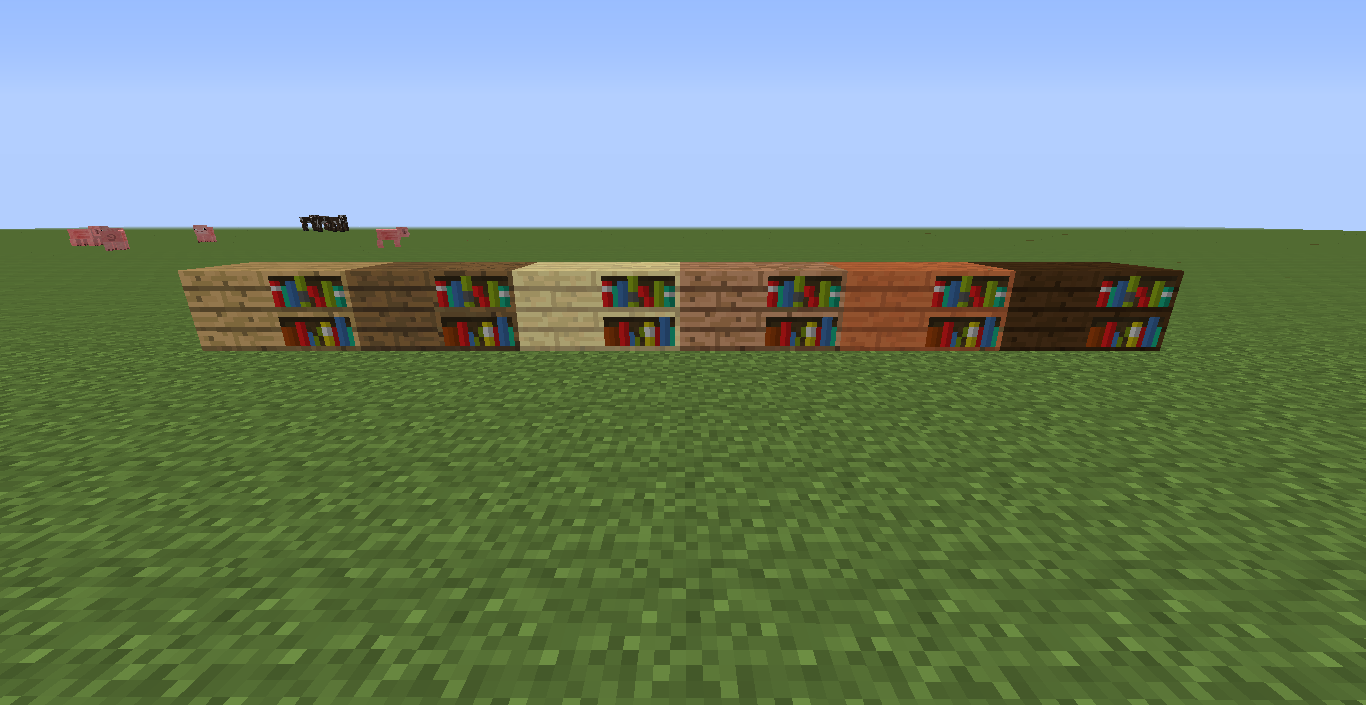 how many bookcases minecraft
