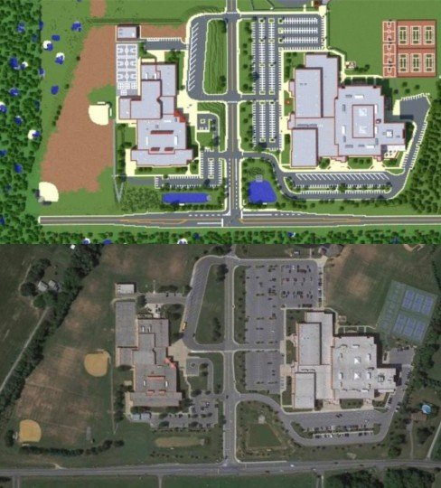 Marriotts Ridge High School - Replica - Maps - Mapping and