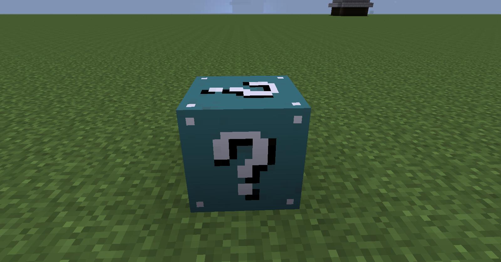 1 7 10] LUCKY BLOCK CYAN - Adds 20+ items! - Minecraft Mods