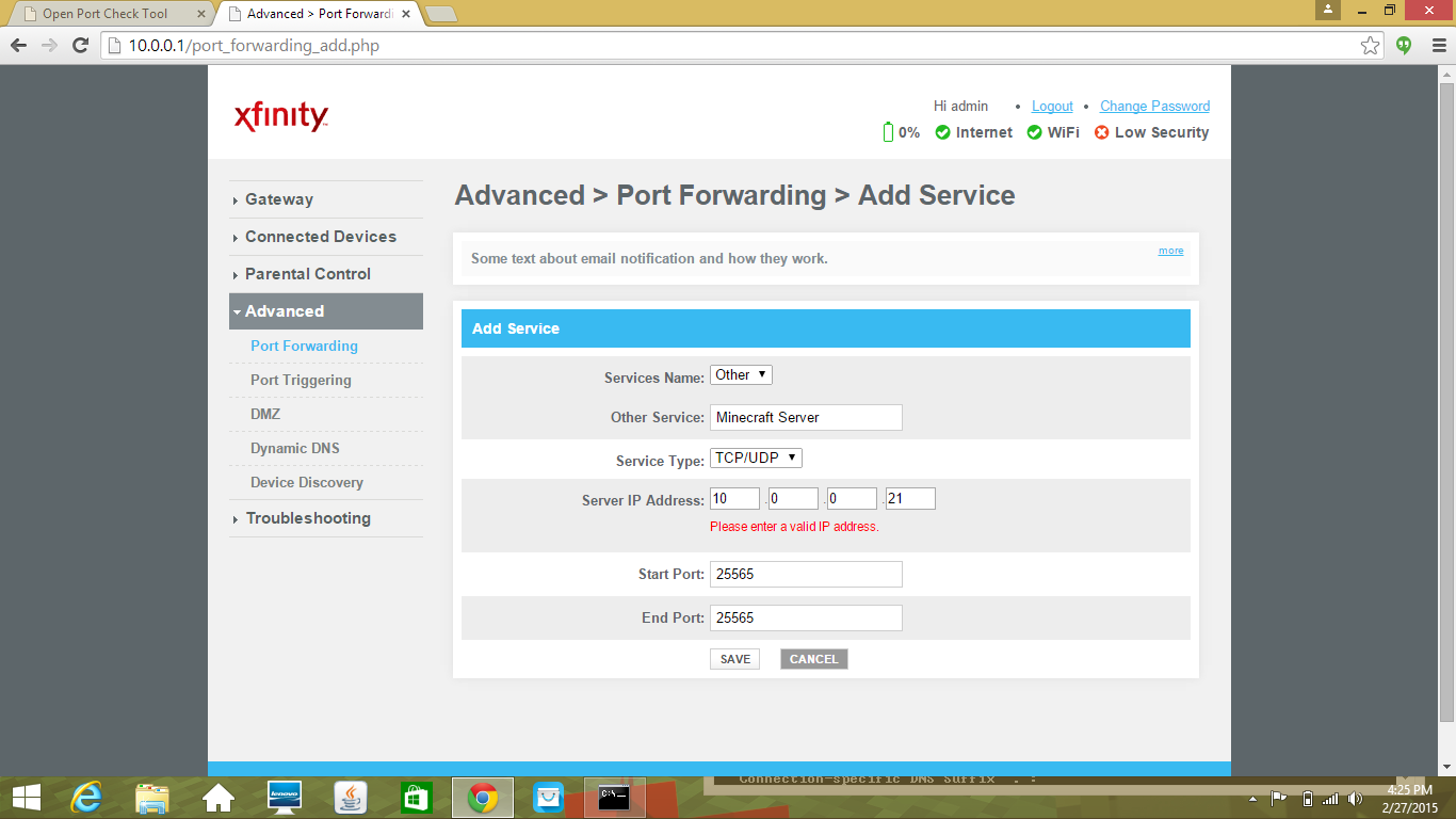 Help with Port Forwarding &Port Triggering/ Activating