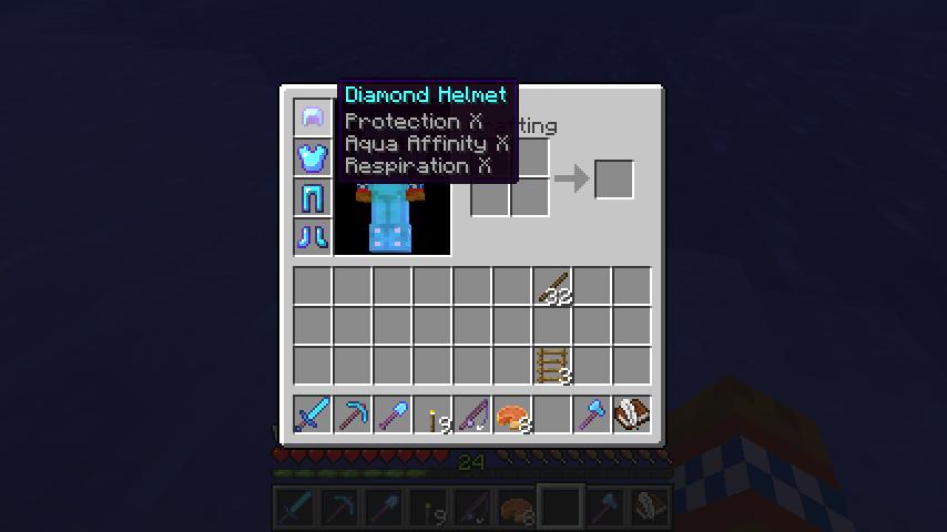 minecraft diamond sword/tools enchantments[command block